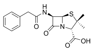 Formule développée de la Pénicilline G.(wikipedia)